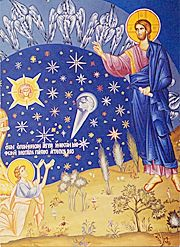 Icon of the Creation of the Heavens