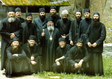 Photo of the monastic brotherhood at Decani Monastery
