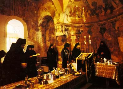 Photo of the Decani trapezi (dining hall)