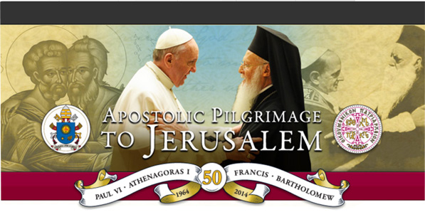 Banner image promoting the Apostolic Pilgrimage to Jerusalem